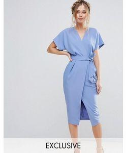 Closet London | Платье С Короткими Рукавами И Поясом
