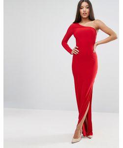 Club L | Платье Макси На Одно Плечо С Высоким Разрезом