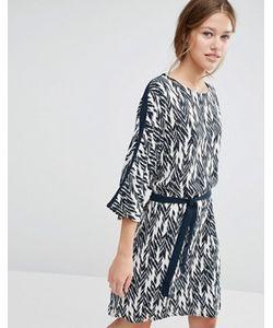 Just Female | Цельнокройное Платье С Принтом Икат