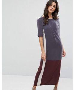 Y.A.S. | Платье Миди В Стиле Колор Блок Y.A.S