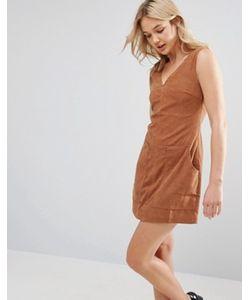 Neon Rose | Цельнокройное Платье Из Искусственной Замши С Карманами