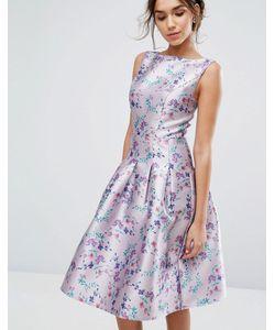 Chi Chi London | Платье Миди С Цветочным Принтом И Складками