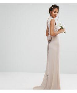 TFNC Tall | Платье Макси С Высокой Горловиной И Бантом Wedding