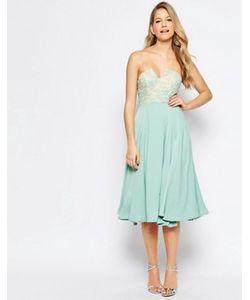 JARLO   Платье Миди С Кружевной Отделкой На Лифе Violetta