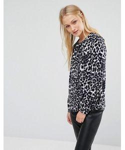 New Lily | Блузка С Леопардовым Принтом Newlily
