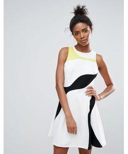 Adelyn Rae | Короткое Приталенное Платье В Стиле Колор Блок