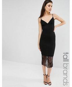 Missguided Tall | Платье Миди С Кружевной Отделкой