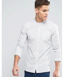Minimum | Белая Приталенная Тканая Рубашка В Полоску С Воротником На Пуговице