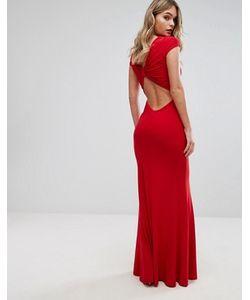 Club L | Платье Макси С Отделкой На Спине