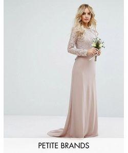 TFNC Petite | Кружевное Платье Макси С Бантом На Спине Wedding