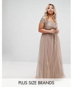 Lovedrobe Luxe | Платье Макси С Пайетками И Юбкой Из Тюля