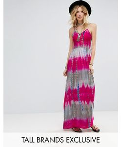 Glamorous Tall | Платье Макси На Бретельках С Принтом Тай-Дай