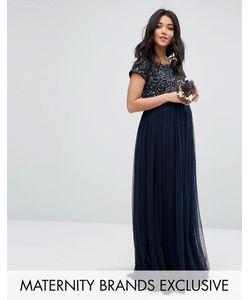 Maya Maternity | Платье Макси Для Беременных С Пайетками И Тюлевой Юбкой