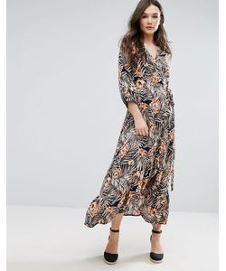 Qed London | Платье Миди С Запахом И Принтом
