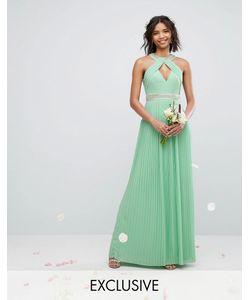 TFNC | Платье Макси С Высоким Воротом Wedding