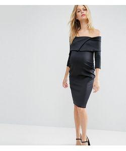 ASOS Maternity | Платье Для Беременных С Широким Вырезом И Плиссировкой
