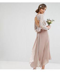 TFNC Tall   Кружевное Платье Миди С Бантом На Спине Wedding