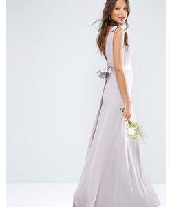 TFNC Tall   Атласное Платье Макси С Бантом На Спине Wedding