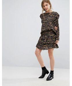 Vero Moda | Юбка С Леопардовым Принтом И Оборками