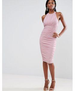 Asos | Сетчатое Платье Со Сборками