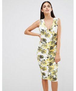 Vesper   Платье-Футляр Без Рукавов С Цветочным Принтом