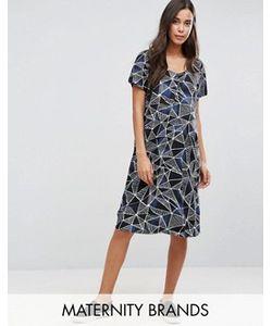 Mama Licious | Цельнокройное Платье С Графическим Принтом Mamalicious