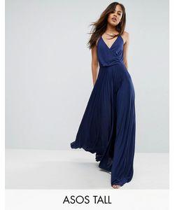 ASOS TALL | Платье Макси С Запахом И Плиссированной Юбкой