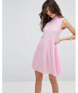 Asos | Свободное Платье Без Рукавов Из Фактурной Ткани