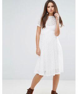 Goldie | Кружевное Расклешенное Платье Миди С Подкладкой-Комбинацией Romantics