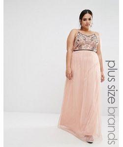 Boohoo Plus | Платье Макси С Вышивкой Из Пайеток