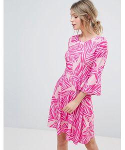 Every Cloud | Приталенное Платье Мини С Абстрактным Принтом