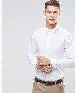Asos | Классическая Строгая Рубашка С Двойными Манжетами И Длинными Рукавами