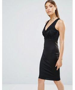AX Paris | Облегающее Платье Миди С Vобразным Вырезом