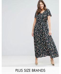 Yumi Plus | Платье Макси С Цветочным Принтом
