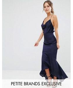 Jarlo Petite | Платье Миди На Бретельках С Асимметричной Кромкой