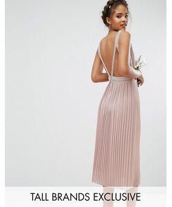TFNC Tall | Приталенное Платье Миди Для Выпускного С Открытой Спиной Wedding