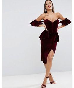 Asos | Бархатное Платье Миди Carpet