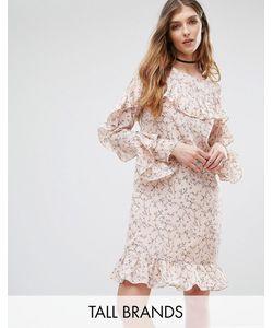 Glamorous Tall   Платье С Цветочным Принтом И Оборкой