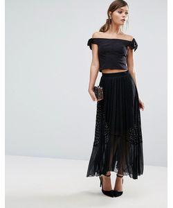 Coast   Amira Lace Pleat Skirt