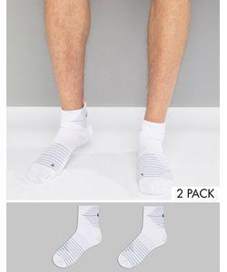Nike Running | 2 Пары Белых Носков Nike Sx5198-100