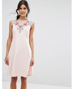 Elise Ryan | Платье-Трапеция С Цветочной Аппликацией