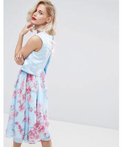 Horrockses   Платье Миди 2 В 1 С Цветочным Принтом