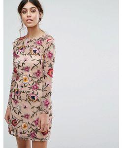 Frock and Frill | Платье Мини Для Выпускного С Цветочной Вышивкой