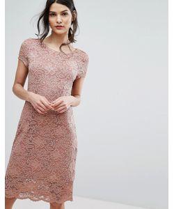 Selected | Кружевное Платье С Короткими Рукавами