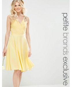 TFNC Petite | Платье Миди Для Выпускного С Декорированными Плечиками Wedding