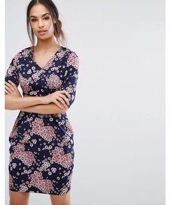 Poppy Lux   Цельнокройное Платье С Цветочным Принтом