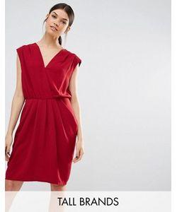 Y.A.S Tall | Драпированное Платье С Запахом Спереди Amber