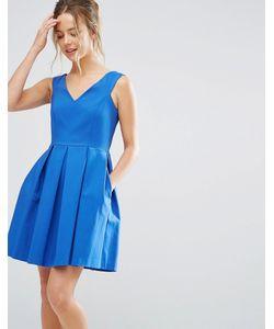 Closet London | Короткое Приталенное Платье С V-Образным Вырезом