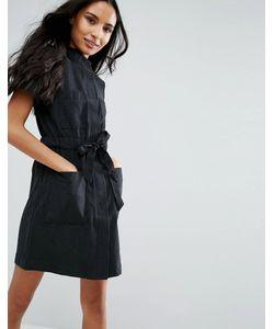 Vero Moda | Платье-Рубашка С Короткими Рукавами И Ремнем