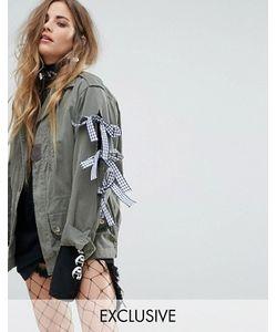 Reclaimed Vintage | Куртка В Стиле Милитари С Бантами Revived